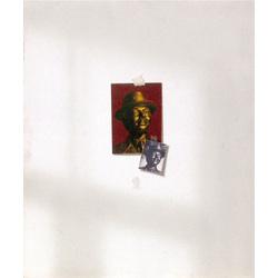 Reproducēts attēls uz sienas, I (Pašportrets)