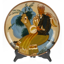 Keramikas šķīvis pēc Romāna Sutas meta
