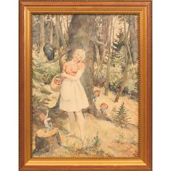 Meitene mežā