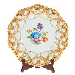Meisenes porcelāna šķīvis