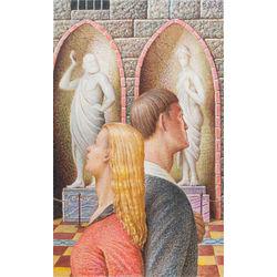 Sieviete un vīrietis muzejā