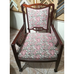 Jūgendstila sarkankoka krēsls