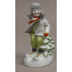 Porcelāna figūriņa ''Slēpotājs''