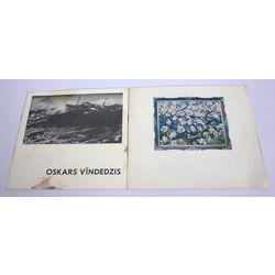 2 izstādes katalogi - Oskars Vīndedzis