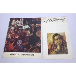 2 izstādes katalogi - Osvalds Zvejsalnieks un Egons Cēsnieks
