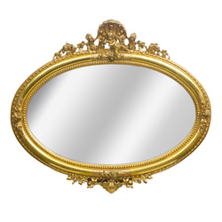Apzeltīts spogulis