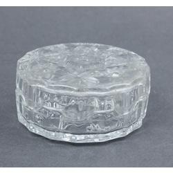 Stikla lādīte ar vāku