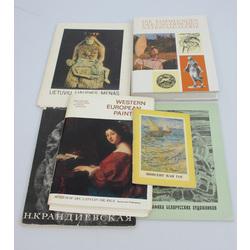 5 grāmatas un 1 gleznu repdrodukciju albums(kopā 6 gab.)