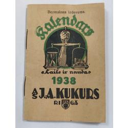A-S. J.A.Kukurs Piezīmju kalendārs 1938