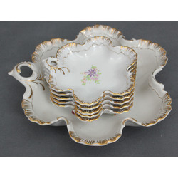 Porcelāna ievārījuma trauku komplekts - 1 lielais un 5 mazie