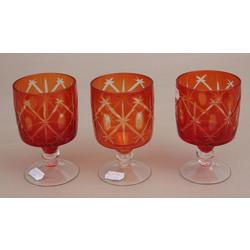 Sarkanā stikla komplekts - 3 glāzes