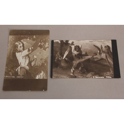 2 atklātnes ar E.Brencēna gleznu reprodukcijām