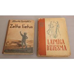 2 grāmatas - Hilda Vīka, Laimīgā dziesma; Alberts Sprūdžs, Zelta lietus