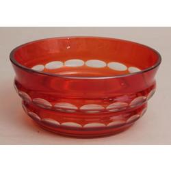 Krāsainā stikla augļu trauks