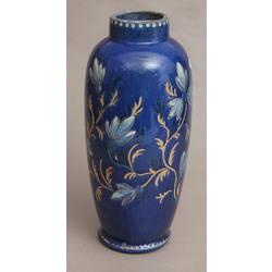 Zila keramikas vāze