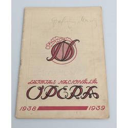 Latvijas Nacionālās operas programma 1938/1939