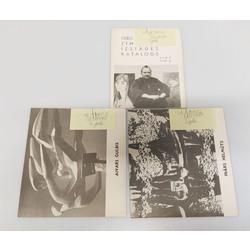 3 izstādes katalogi - Ulda Zemzara zīmējumu izstādes katalogs, Inārs Helmūts, Aivars Gulbis
