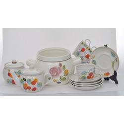 Porcelāna tējas servīze piecām personām