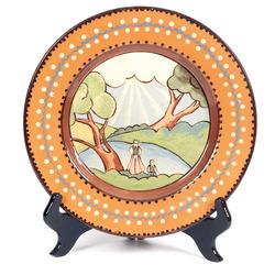 Keramikas dekoratīvais šķīvis