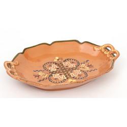 Keramikas servējamais šķvīs ovālā formā