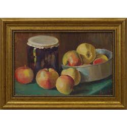 Klusā daba ar āboliem