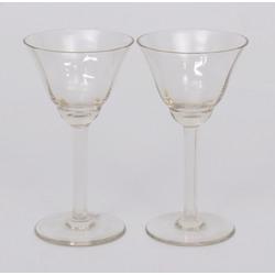 Kristāla stikla glāzes 2gab.
