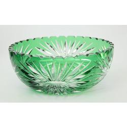 Zaļā kristāla stikla saldumu trauks