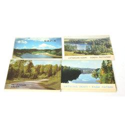 4 atklātņu albumi - Gauja, Pa Latvijas ceļiem, Latgales ezeri, Latvijas skati