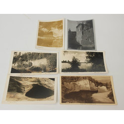 6 atklātnes - Gleznais Amatas līcis, Amatas klintis, Salaca pie Mazsalacas,