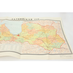 Latvijas PSR Karte