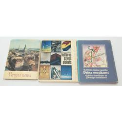 3 atklātņu albumi - Vecrīgas motīvi, kultūras dzīves plakāts, Latviešu tautas pasaka