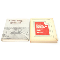 2  grāmatas - Senā Rīga grafikā, Latviešu glezniecība buržuāziski demokrātisko revolūciju posmā