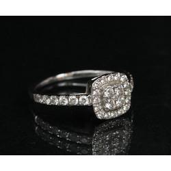 Baltā zelta gredzens ar briljantiem