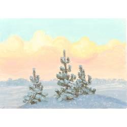 Ziemas ainava ar eglēm