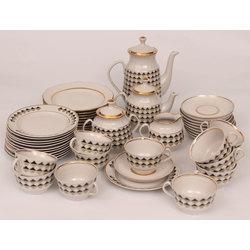 Porcelāna tējas-kafijas servīze 11 personām