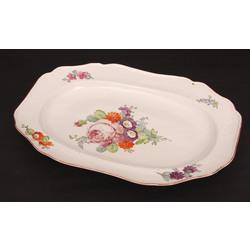 Apgleznots porcelāna servējamais sķīvis
