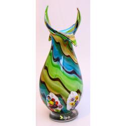Krāsaina Murano stikla vāze