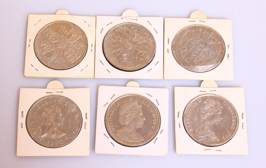 Dažādu monētu kolekcija