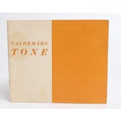 Valdemāra Tones  gleznu un zīmējumu izstādes katalogs