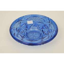 Zilā stikla sķīvis
