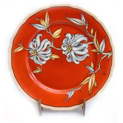 Apgleznots dekoratīvais porcelāna šķīvis