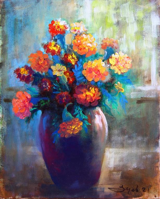 Klusa daba ar ziediem