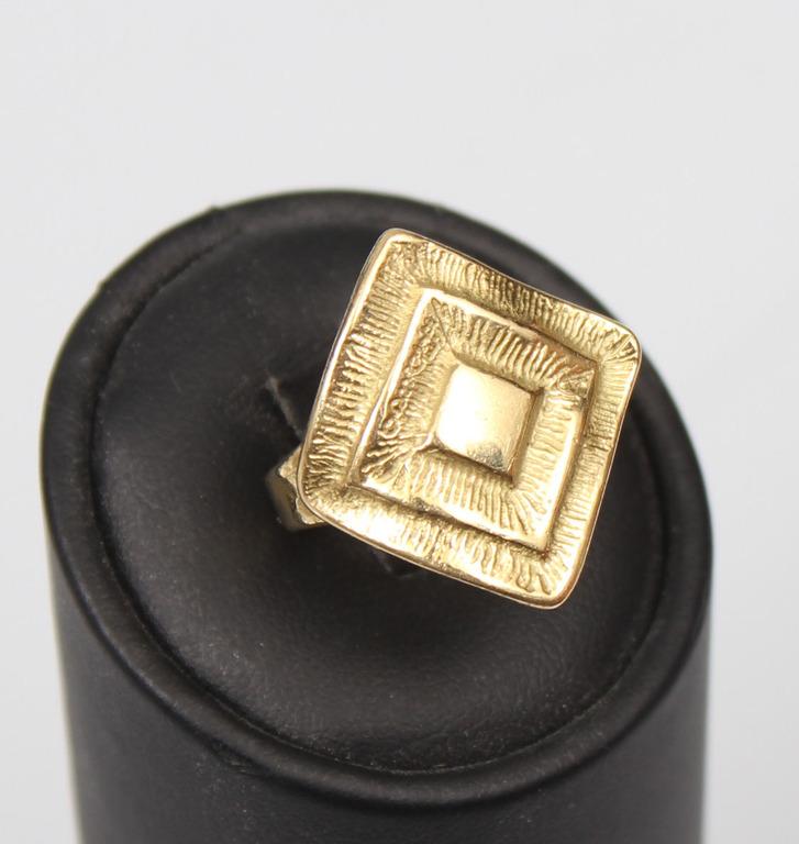 Dzeltenā zelta gredzens