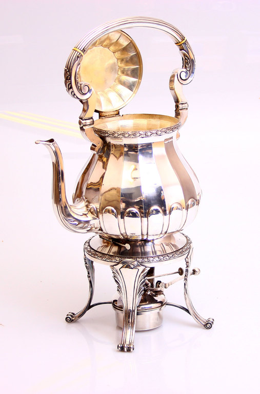 Sudraba kanna ar spirta lampiņu