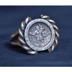 Sudraba gredzens ar Lielo Kristapu