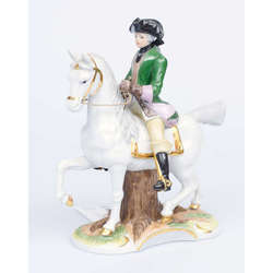 Porcelāna figūra Jātnieks uz zirga