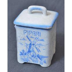 Apgleznots porcelāna garšvielu trauks
