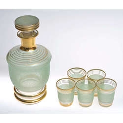 Stikla karafe ar 5 glāzēm