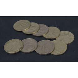 1 rubļa monētas (9. gab.)