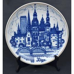 Porcelāna šķīvis ar Rīgas skatiem